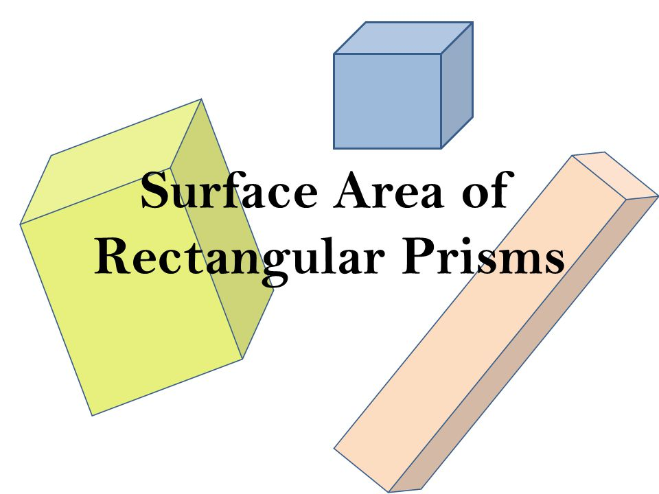 Surface Area Of Rectangular Prisms  Ppt Download