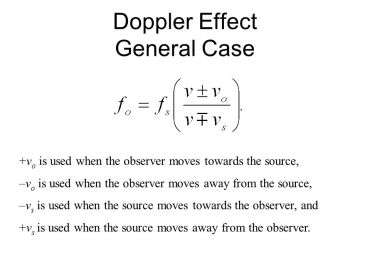 doppler effect general case