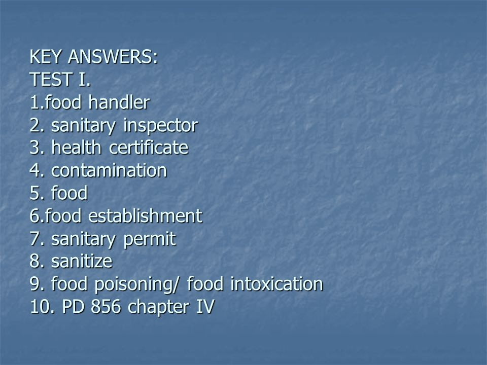 Food Protection Course Quiz Answers 34  Food Protection Course Answers