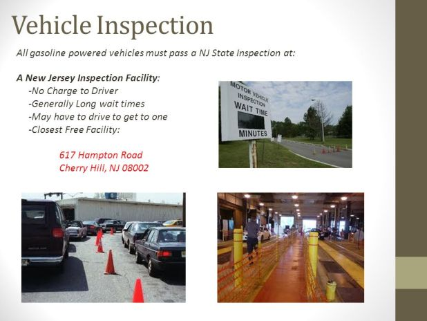 Cherry hill motor vehicle inspection vehicle ideas for Nj motor vehicle inspection