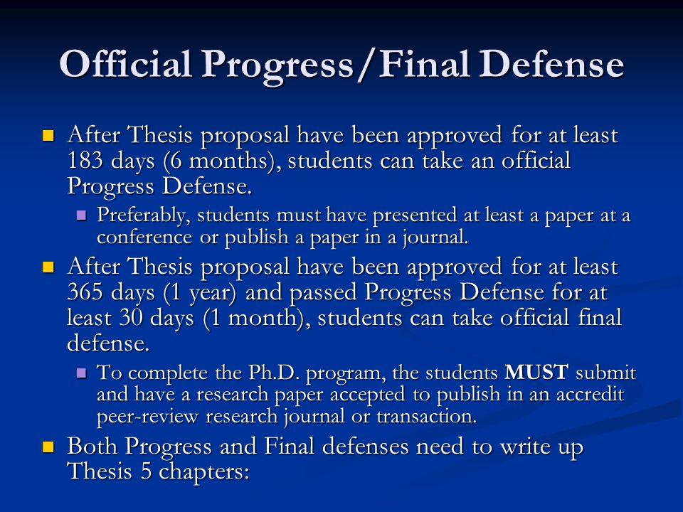 Dissertation Proposal Defense Ppt