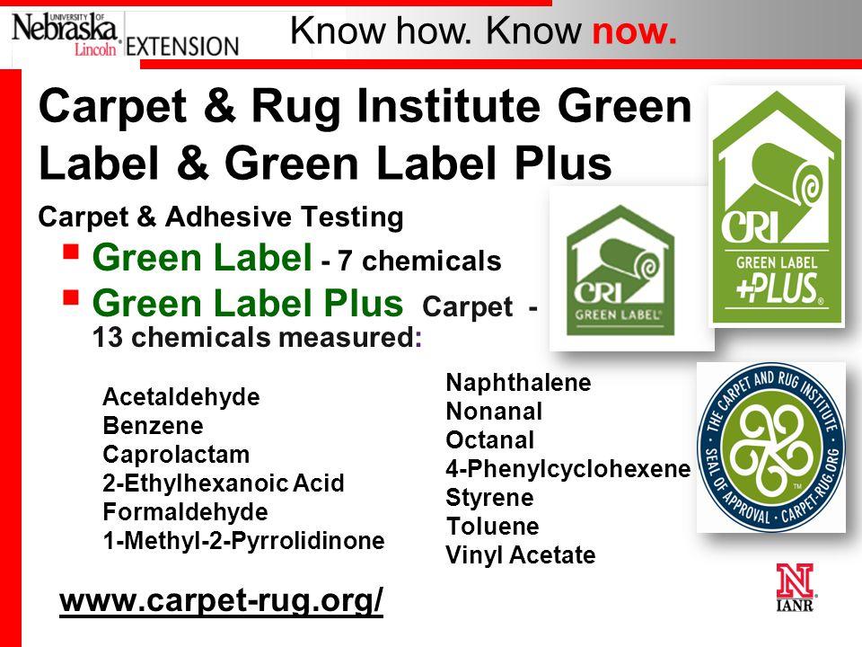 Carpet And Rug Insute Green Label Plus