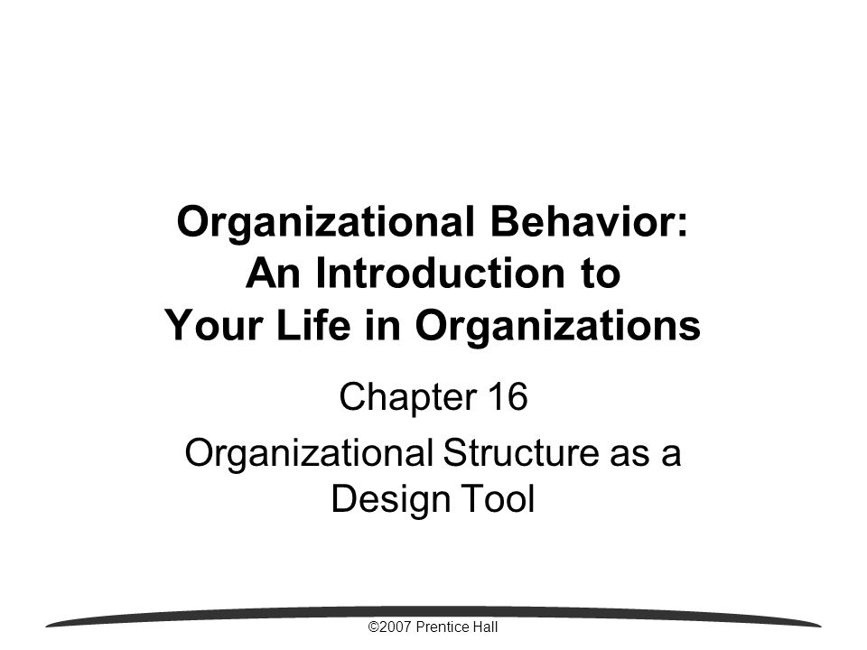 Organizational Behavior: An Introduction to Your Life in