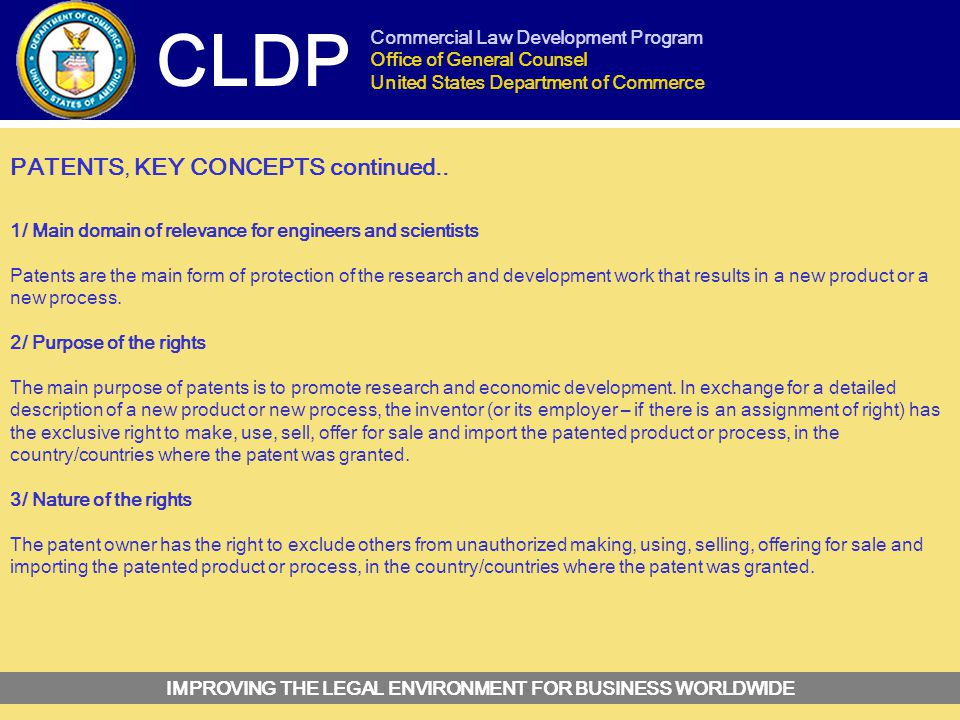 INTELLECTUAL PROPERTY LAW - ppt video online download