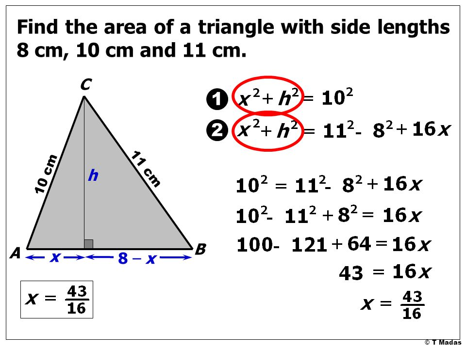 Comfortable Find The Length Of The Hypotenuse And The Area