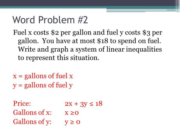 66 Systems of Linear Inequalities Word Problems ppt