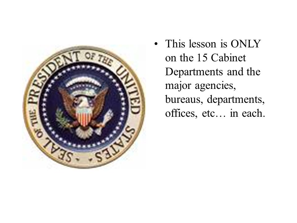 what are the fifteen cabinet departments | Centerfordemocracy.org