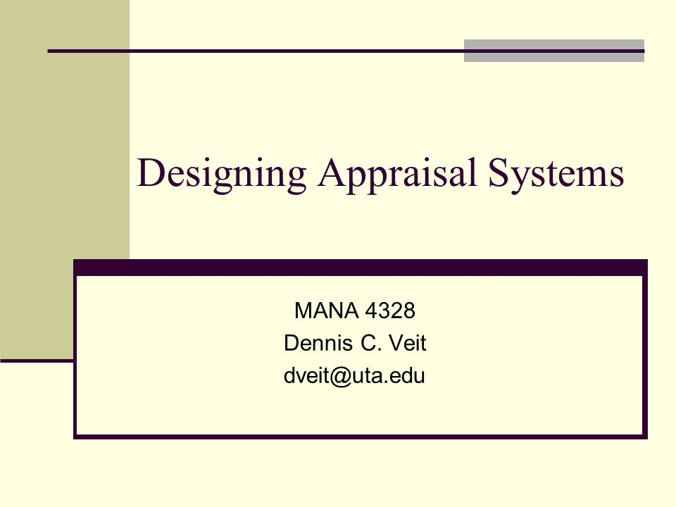 Designing Appraisal Systems Ppt Video Online Download