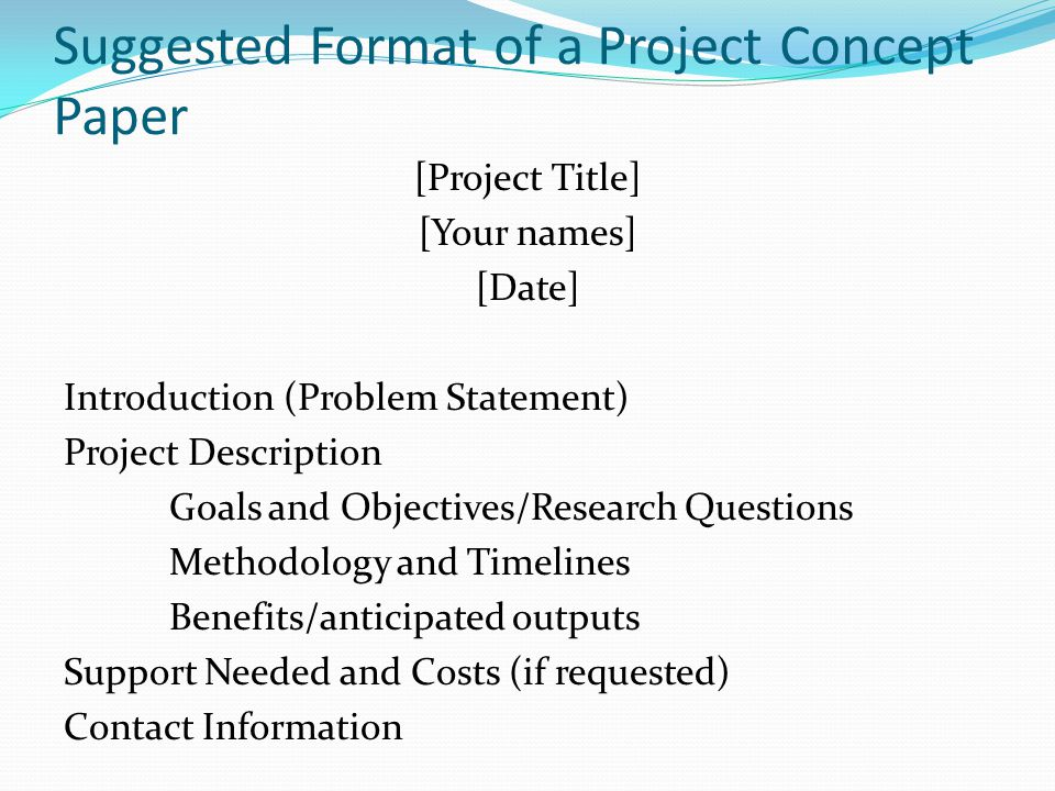 Lecture 2 Project Concept Document Ppt Video Online