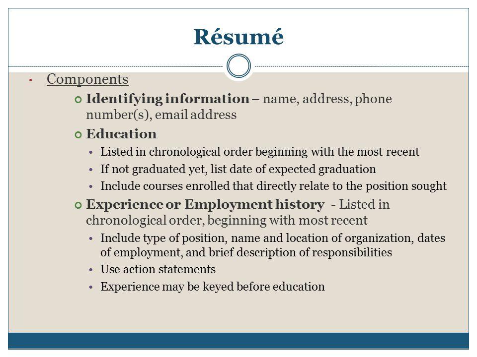 Resume Business Letter & Memo Ppt Download