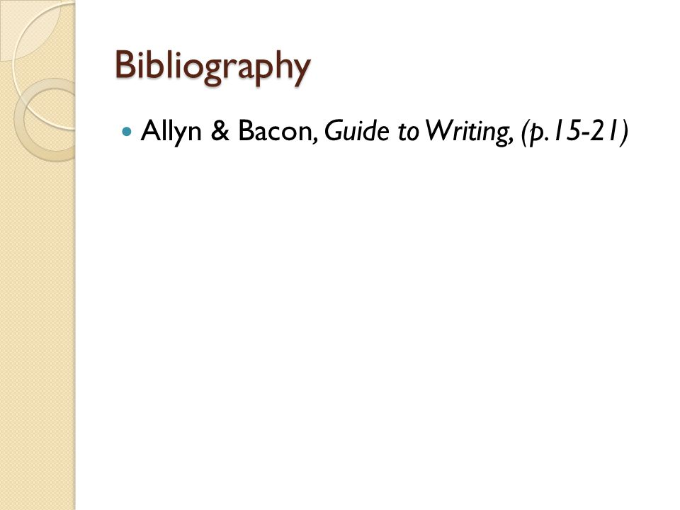 Allyn & Bacon Guide To Writing Chapter 1 Concept 3 Ppt Video