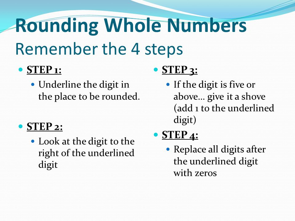 Rounding Whole Numbers And Decimals  Ppt Download