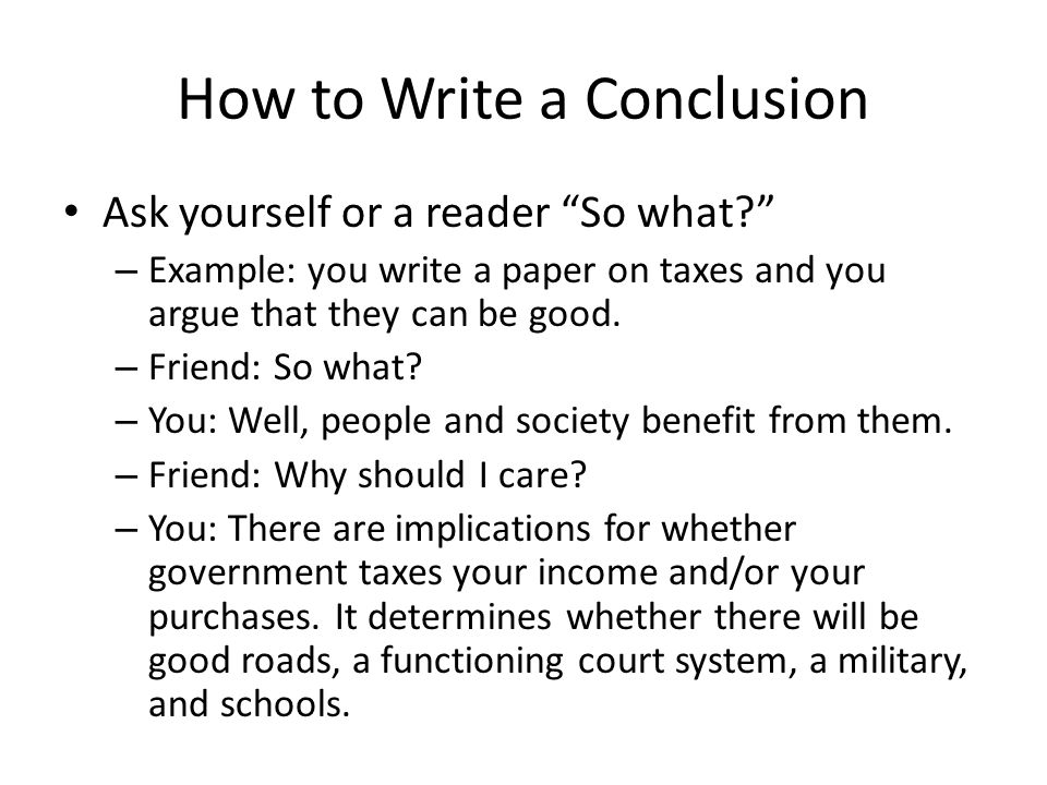 Writing Effective Conclusions Research Papers Research Paper