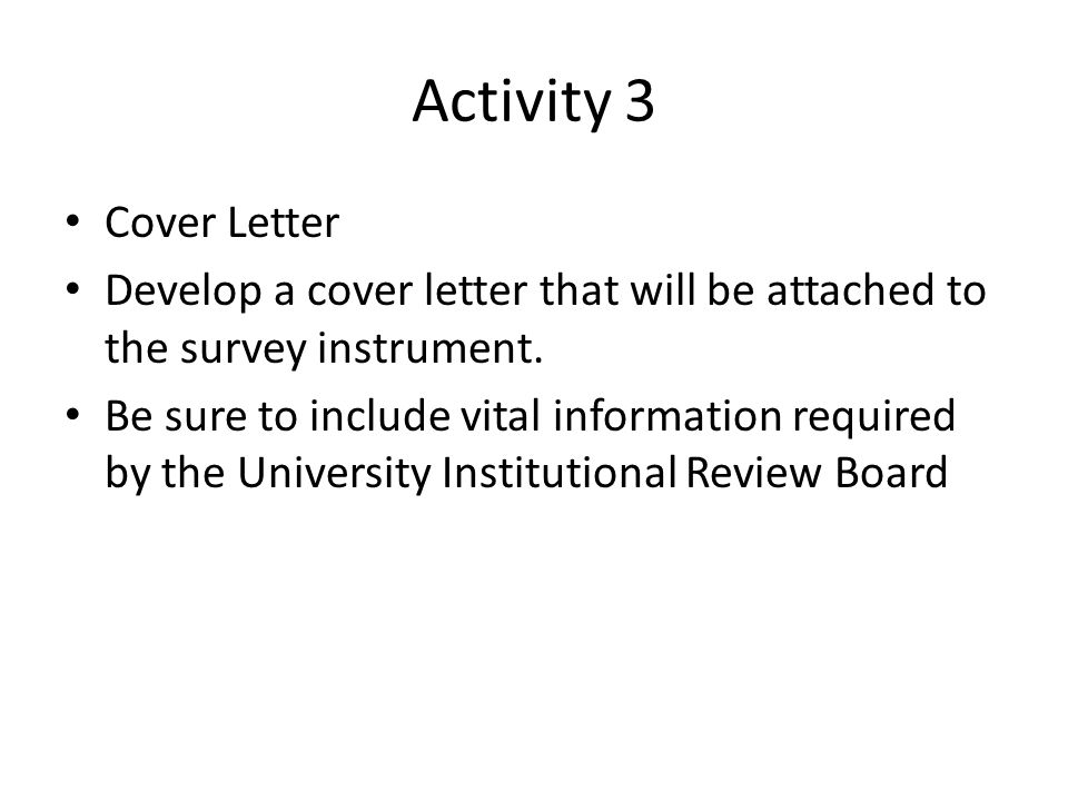 Cover Letters for Survey Research Studies  ppt download
