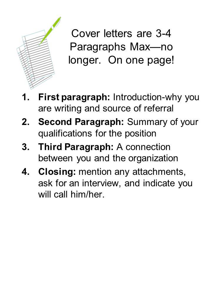 cover letter paragraphs