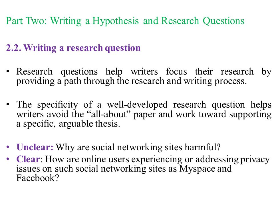 Hypothesis And Research Question Term Paper Help Oltermpaperojhy