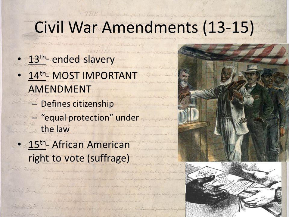 American African Suffrage Amendment 15