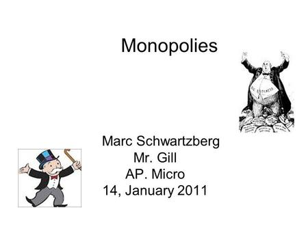 2014 AP Micro FRQ A #1 (Unit 4: Monopoly in Product Market