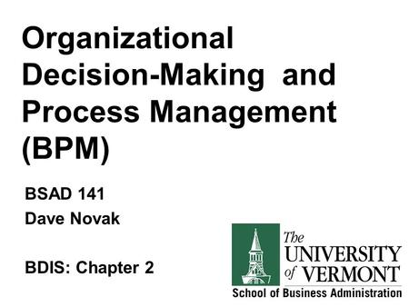 Business Process Reengineering Class Session 5