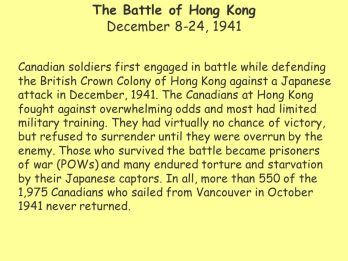 Image result for pics of Canadians in Hong Kong 1941