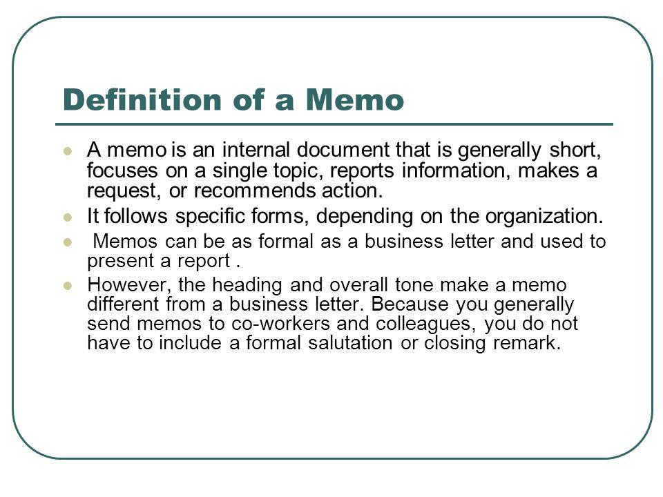 define memo - Ideal.vistalist.co