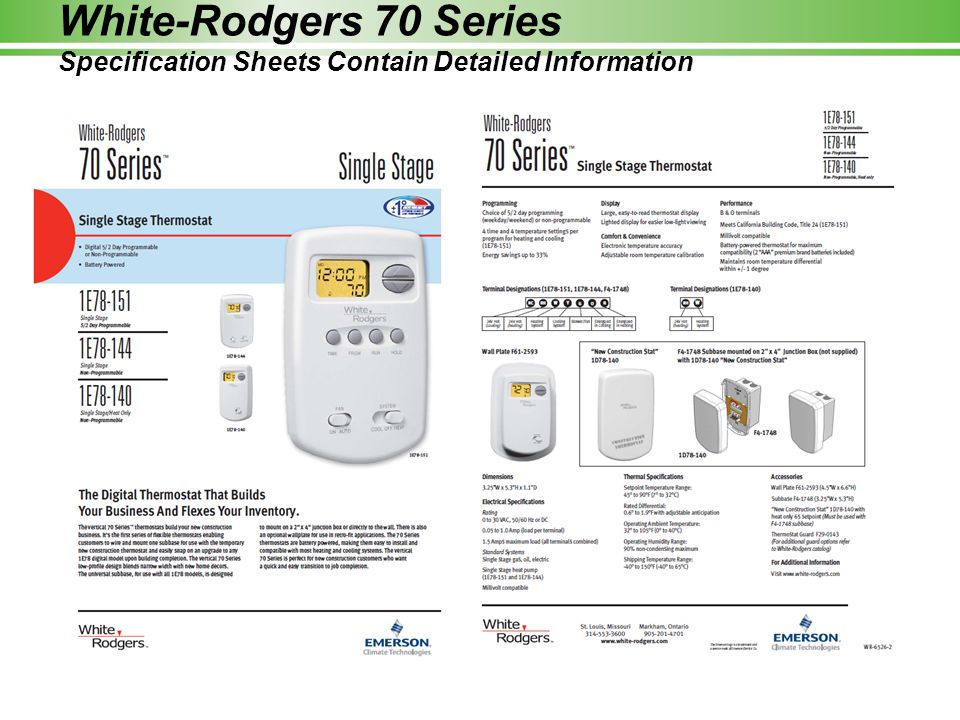 Amazing White Rodgers Thermostat Wiring Diagrams Collection ...