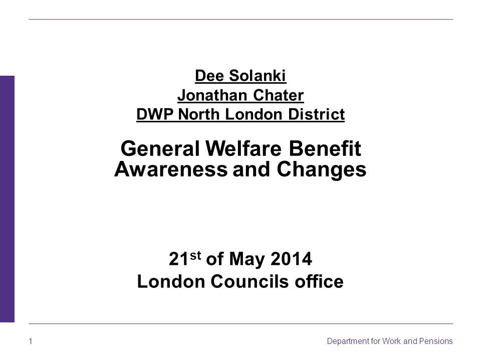 Dee Solanki Jonathan Chater DWP North London District
