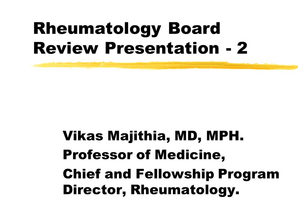 Rheumatology Board Review Presentation ppt download