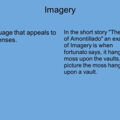 The Cask Of Amontillado Story Diagram Human Nose Short Ties To Literary Terms Ppt Video Online Download