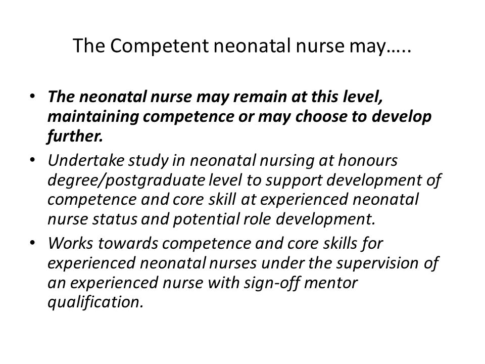 Competence education and careers in neonatal nursing RCN guidance  ppt download