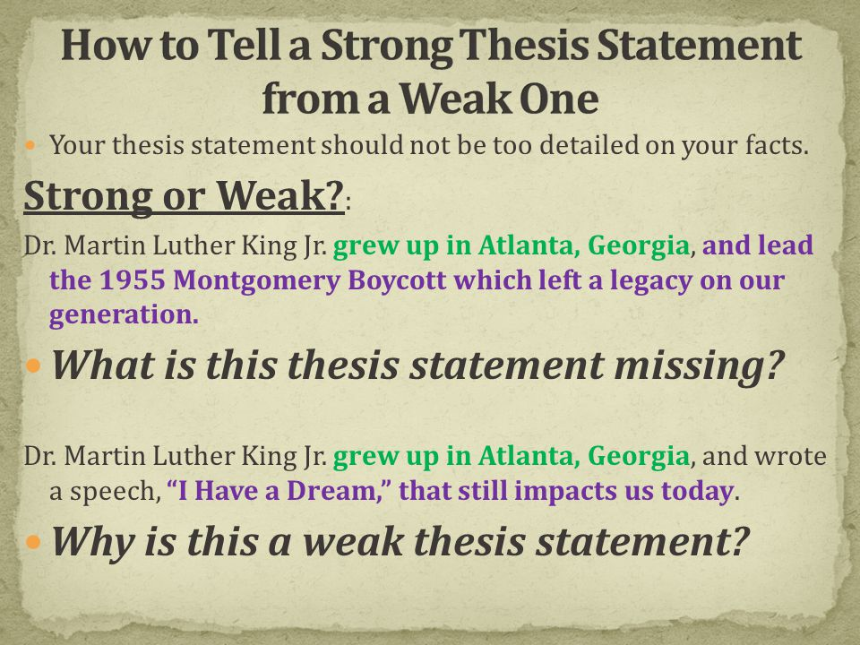 What Is A THESIS STATEMENT? Ppt Video Online Download