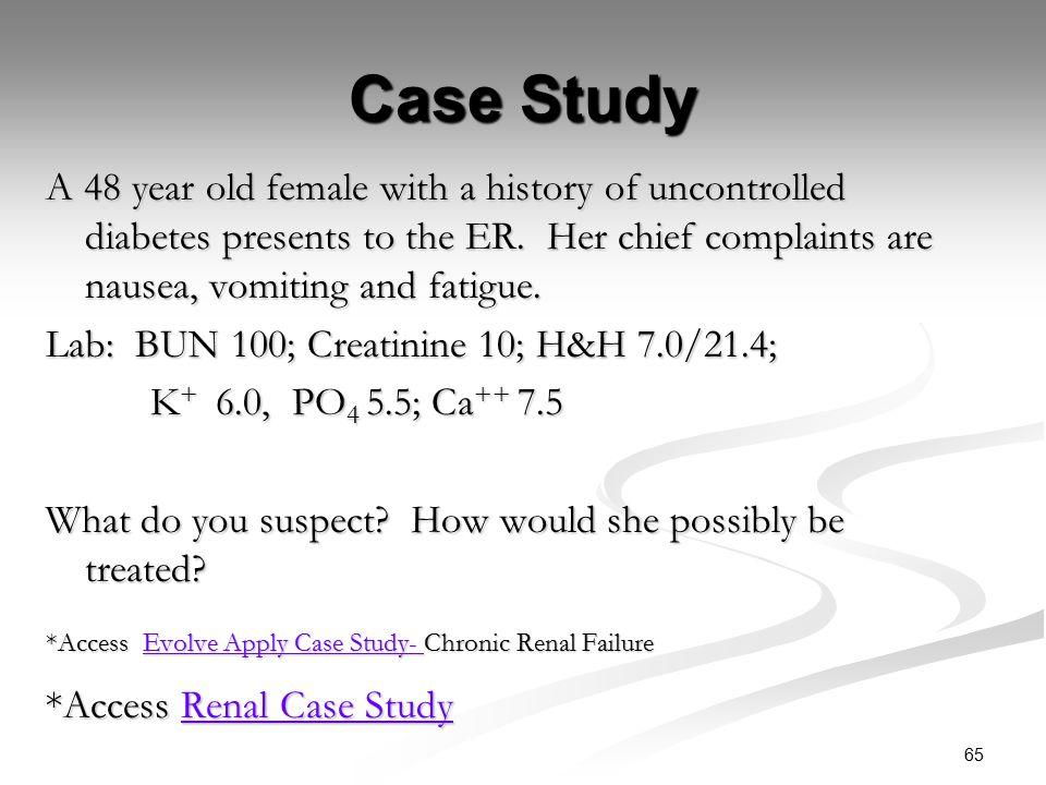 Case study chronic renal failure