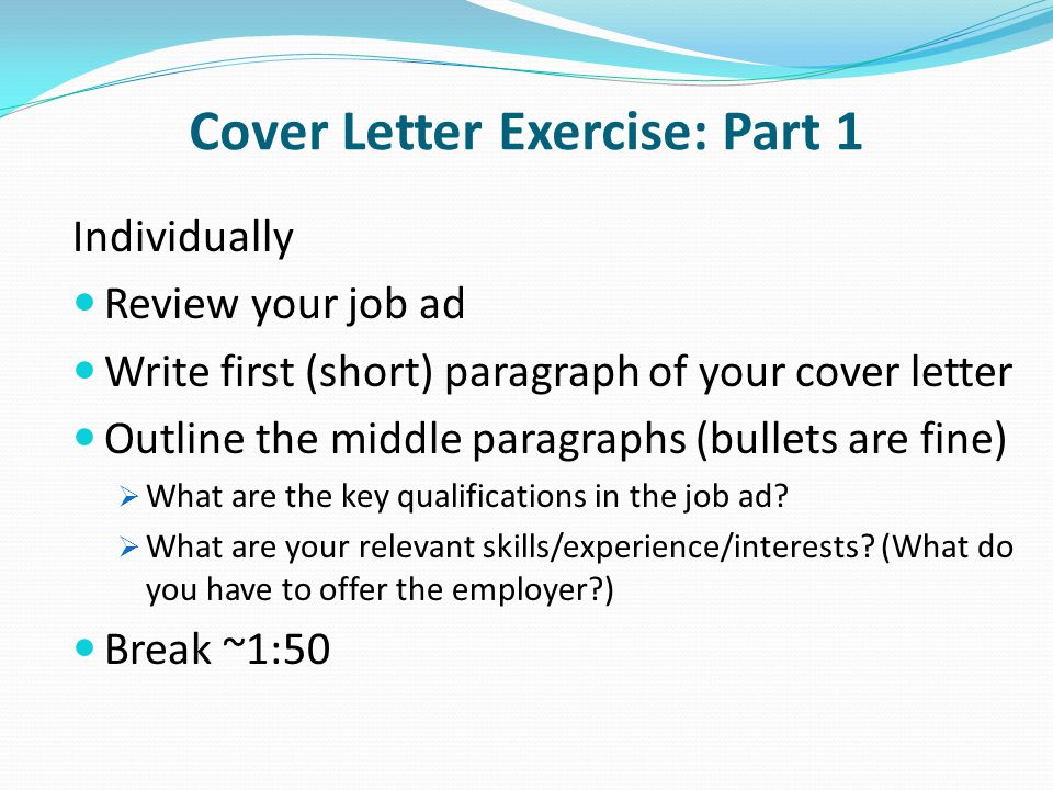 OCN 750 Class 11 March 20 Cover Letters  ppt download