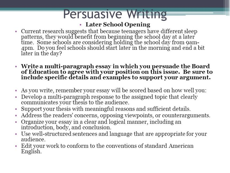 Search Essays In English School Should Start Later Persuasive Essay Creativecard Co High School Argumentative Essay Examples also Thesis Statement For An Argumentative Essay Persuasive Essay On Why High School Should Start Later  Mistyhamel Businessman Essay
