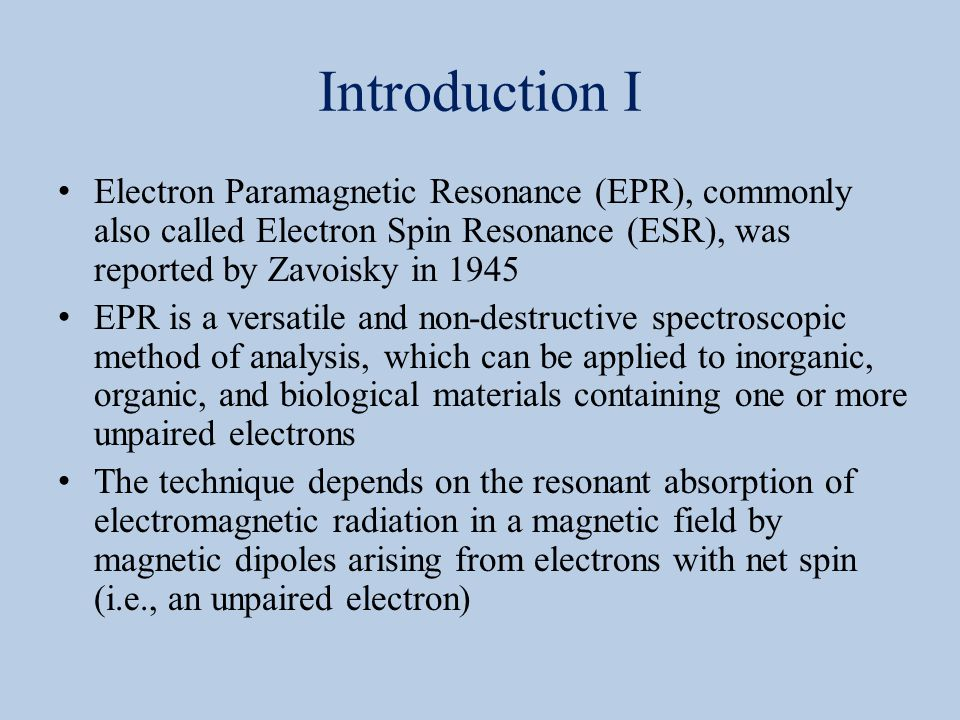 Lecture 8a EPR Spectroscopy  ppt video online download