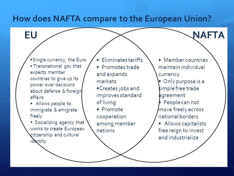 purpose venn diagram outlet wiring series multiple gfci nafta north american free trade agreement. - ppt video online download