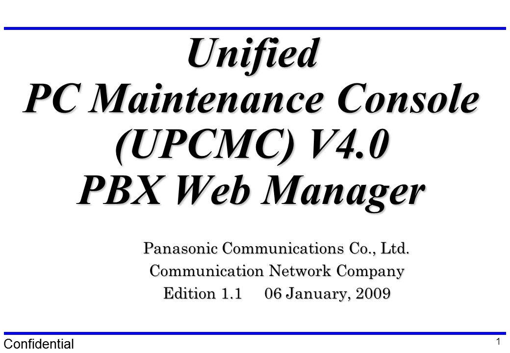 Upcmc Panasonic Pbx Unified Maintenance Console