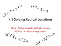 Solving Radical Equations And Inequalities Worksheet ...