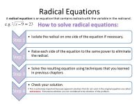 Printable Worksheets  Solving Radical Equations ...