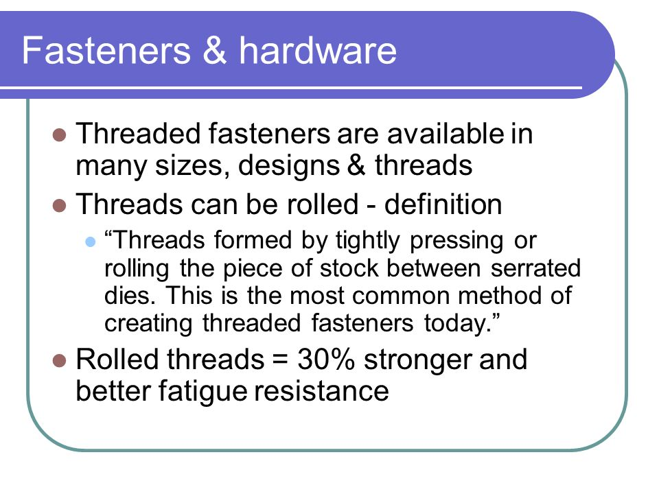 WPPFasteners  Hardware  ppt video online download