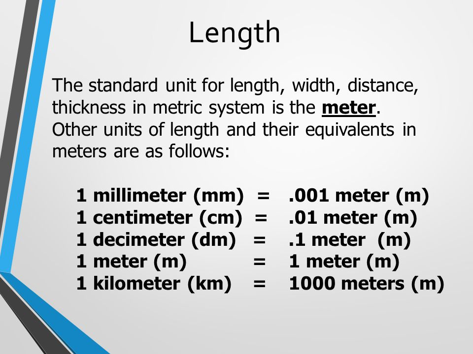 METRIC SYSTEM Mr Ds 6th Grade Class  ppt download