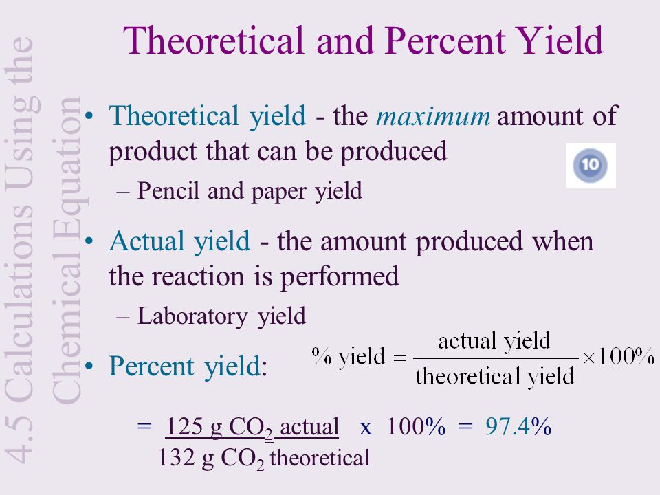 Calculations And The Chemical Equation  Ppt Video Online Download