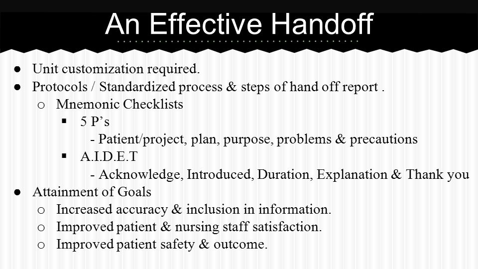 What Is A Handoff Report? Ppt Video Online Download