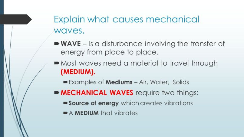Mechanical Waves Examples Choice Image Example Cover Letter For Resume