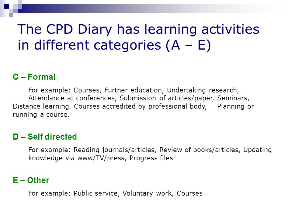 Continuing Professional Development CPD And RCSLT Ppt