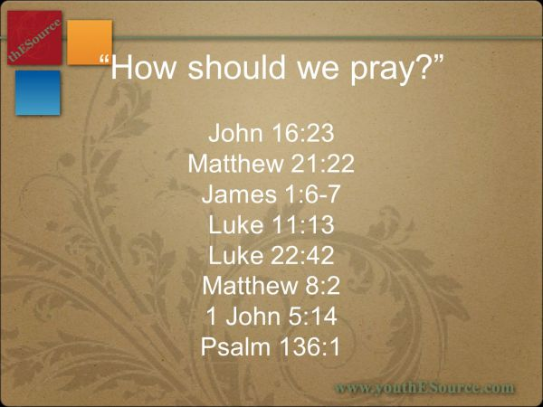 A TwoPart Bible Study About Prayer ppt video online