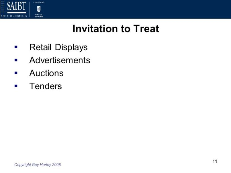 Tender invitation to treat or offer invitationjpg week 4 law of contract offer and acceptance ppt stopboris Gallery