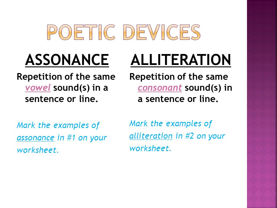 Alliteration Poem Examples Repetition