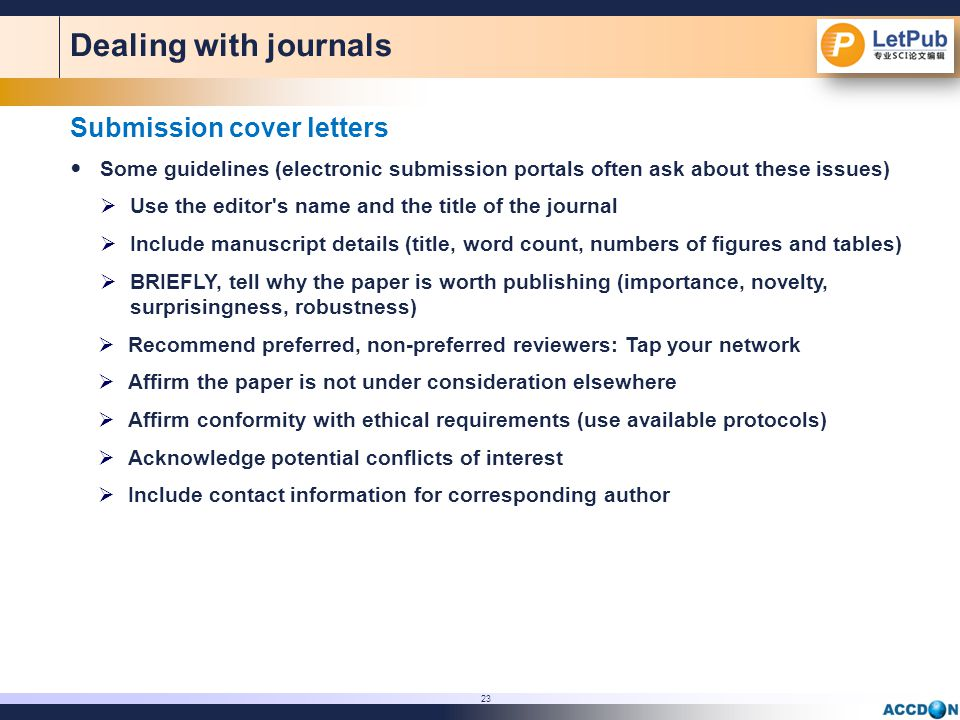 Pointers on Preparing Papers for Professional Publication  ppt download