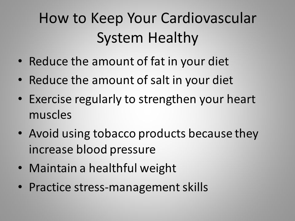 Keeping Your Body Healthy  Cardiovascular System   ppt